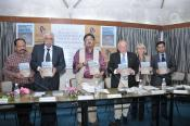 "BOOK LAUNCH ""Revisiting Contemporary South Asia"", IIC, New Delhi, India, Chief guest Dr. Chandan Mitra, Guest of Honor Maj. Gen. G. D. Bakshi, Rajan Arya, publisher, Prof. Dr. Klaus Lange, Prof. Dr. Klara Knapp, Dr. Jagannath Panda, editors"