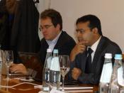 M.A. Michael Bauer, Dr. Jagannath Panda, at ITS workshop, Bruneck, Italy