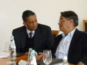 Prof. Dr. Narayan, Brig. Vinod Anand, at ITS workshop, Bruneck, Italy