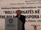 Prof. Dr. Klaus Lange, International Conference, Prizren, Republic of Kosova