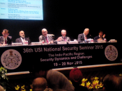 """The Indi-Pacific Region: Security Dynamics and Challenges"", USI, New Delhi, November 2015"