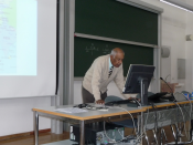 Ambassador Ranjit Gupta lecturing at University of Bozen/Bolzano