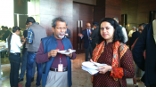 Prof. Dr. Imtiaz Ahmed, University of Dhaka in conversation with Dr. Joyeeta Bhattacharjee, senior researcher ORF, India at Counter Terrorism Conference, Jaipur, Rajasthan