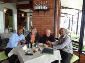 Interaction between ITS directors and Lamla Sibali, Lonwabo Jokani, directors of Khayalethu-Township hospitality development project, Knysna, South Africa