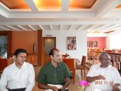 Interaction between ITS directors and Antony Dawson D'silva, D. Dhanuraj, Prof. K.C. Abraham, Centre for Public Policy Research, Kochi, India